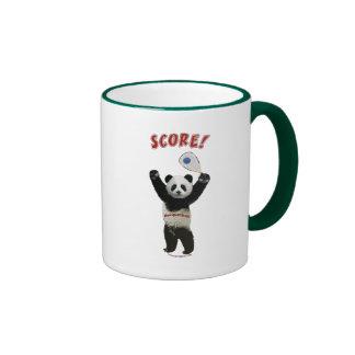 Racquetball Panda Score Ringer Coffee Mug