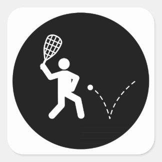 Racquetball Calcomania Cuadradas Personalizadas