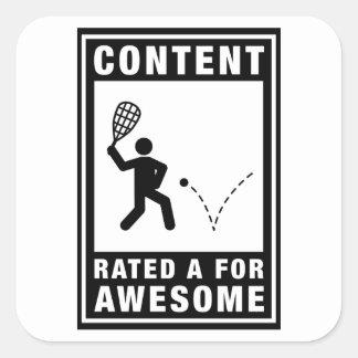 Racquetball Pegatinas Cuadradases Personalizadas