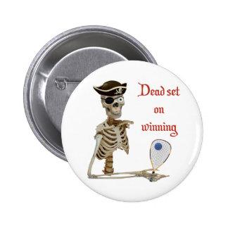 Racquetball Pirate Dead Pinback Button