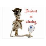 Racquetball Pirate Dead Postcard
