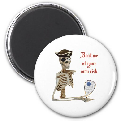 Racquetball Pirate Risk Refrigerator Magnet