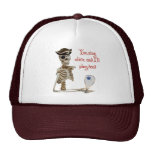 Racquetball Pirate Stay Alive Hats