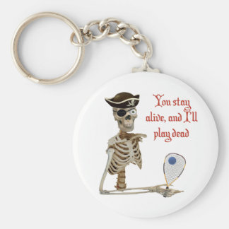 Racquetball Pirate Stay Alive Keychain