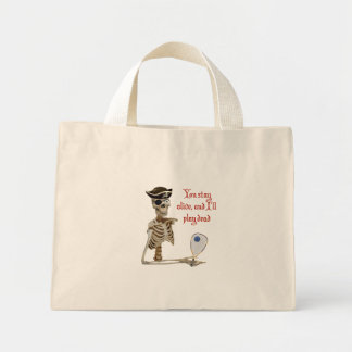 Racquetball Pirate Stay Alive Mini Tote Bag
