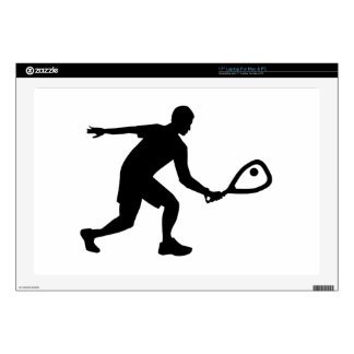 "Racquetball player 17"" laptop decal"