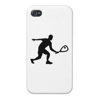 Racquetball player case for iPhone 4