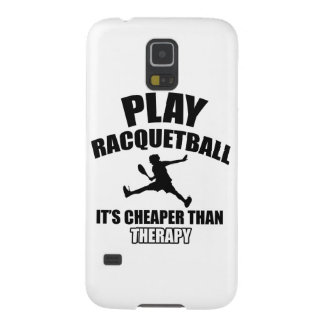 Racquetball player designs galaxy s5 cover
