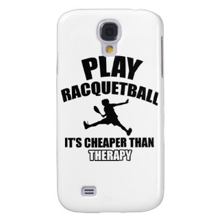 Racquetball player designs samsung galaxy s4 cover