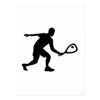 Racquetball player postcard