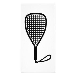 Racquetball racket card