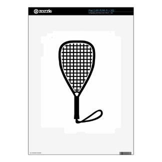 Racquetball racket decals for iPad 2
