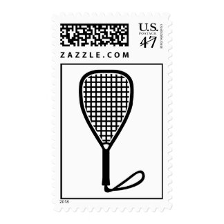 Racquetball racket postage stamp