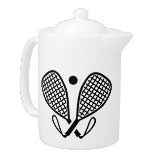 Racquetball rackets teapot