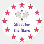 Racquetball Stars Classic Round Sticker