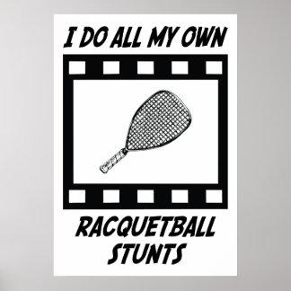Racquetball Stunts Print