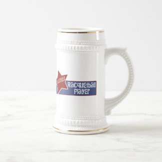 Racquetball T Shirts and Gifts Beer Stein
