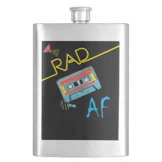 RAD AF retro vintage 80s shirt Flask