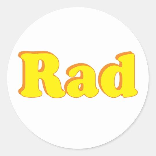 Rad Classic Round Sticker