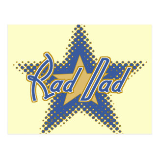 Rad Dad, Dad is Rad Postcard