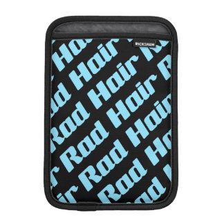 Rad Hair Blue And Black Pattern (Customizable) Sleeve For iPad Mini