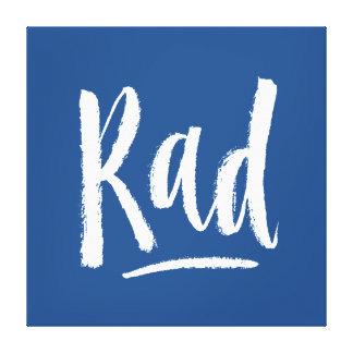 Rad - Hand Lettering Typography Design Canvas Print