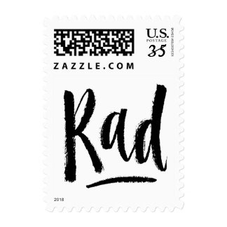 Rad - Hand Lettering Typography Design Postage Stamp