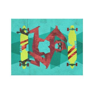 rad monkey canvas print