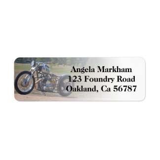Rad Motorcycle Biker Custom Address Labels