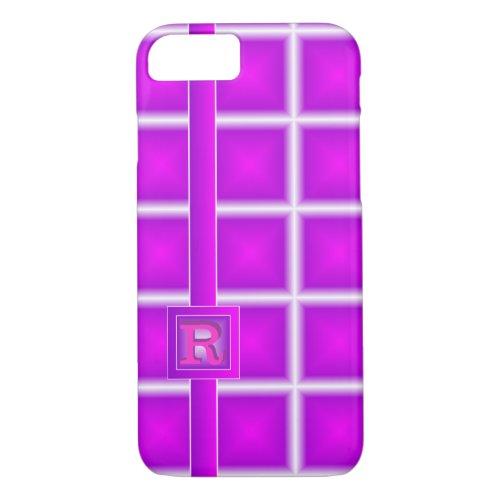 Rad Purple Magenta Starlight Vertical 3D Monogram Phone Case
