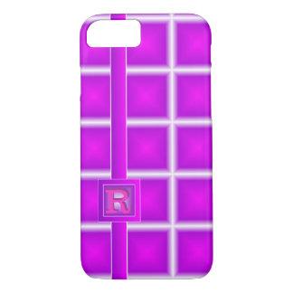 Rad Purple Magenta Starlight Vertical 3D Monogram iPhone 8/7 Case