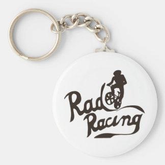 rad racing basic round button keychain