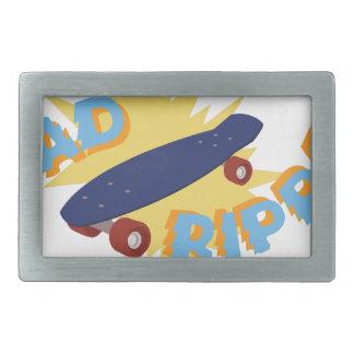 Rad Ripper Skateboard Rectangular Belt Buckle