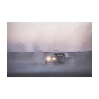 Rad Rod kicking up the dust Canvas Print