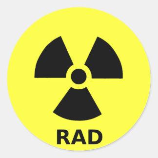 rad round stickers