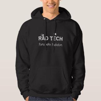 "Rad Tech Black Hoodie ""Runs With Radiation"""