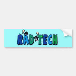 Rad Tech With Stick People and Xrays Design Bumper Sticker