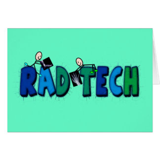 Rad Tech With Stick People and Xrays Design Card