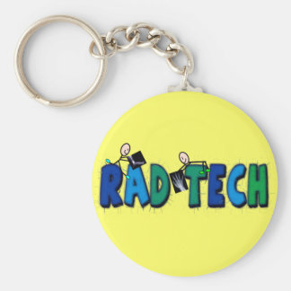 Rad Tech With Stick People and Xrays Design Keychain
