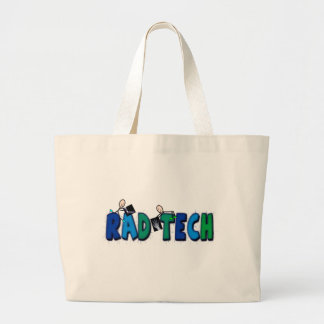 Rad Tech With Stick People and Xrays Design Large Tote Bag