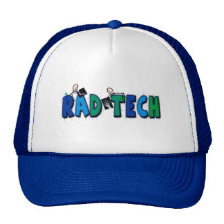 Rad Tech With Stick People and Xrays Design Trucker Hat