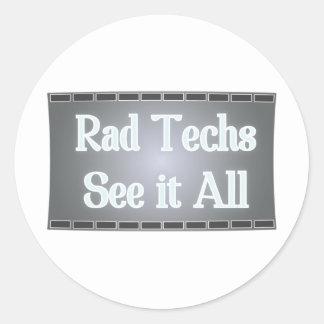 Rad Techs See It All (X-Ray Film) Classic Round Sticker