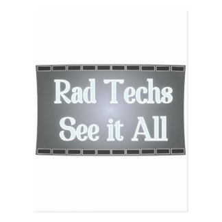 Rad Techs See It All (X-Ray Film) Postcard