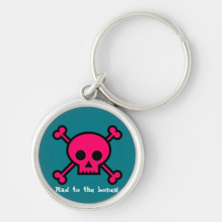 Rad to the bones! keychain