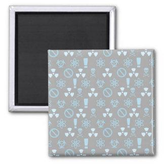 Rad Warning Monogram 2 Inch Square Magnet
