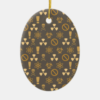 Rad Warning Monogram Ceramic Ornament