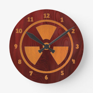 Rad Wood Round Clock