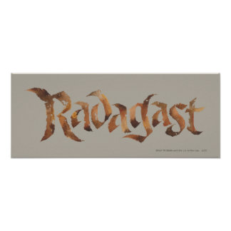 RADAGAST™ Name Textured Poster