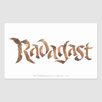 RADAGAST™ Name Textured Rectangular Sticker