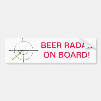 ¡Radar de la cerveza a bordo! por el jokeapptv TM Pegatina Para Auto